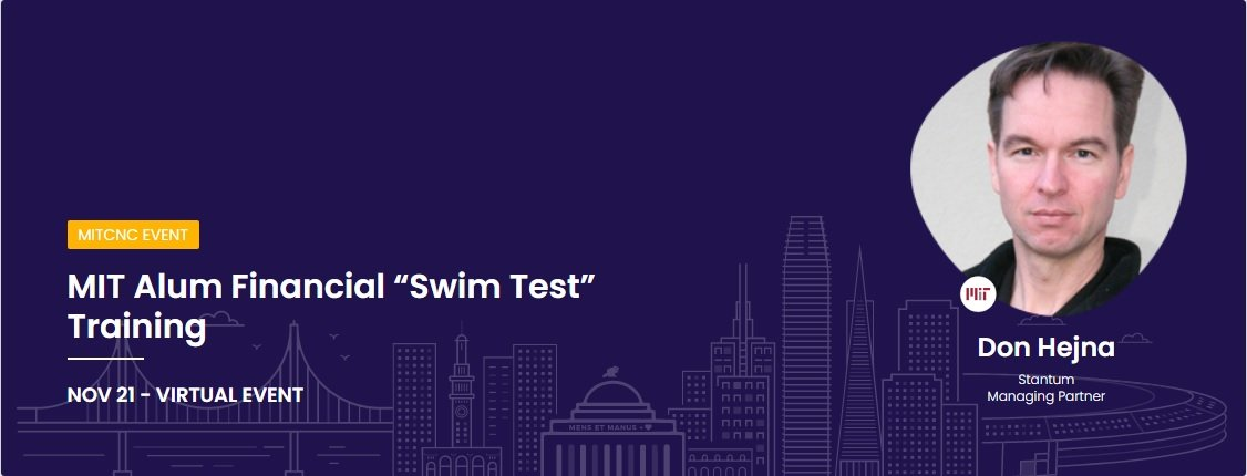 "MIT Alumni Financial ""Swim Test"" Training: Personal Finance Start to Finish Course"